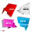 set of paper bubbles vector image vector image