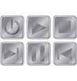 Aluminium Media Buttons vector image
