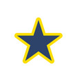 blue and yellow star for christmas decoration vector image