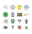 cartoon security and spy color icons set vector image
