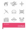 China icon set vector image