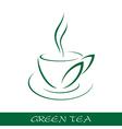 Cup tea symbol vector image