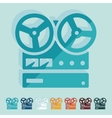 Flat design stereo recorder vector image