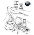 foot massage hands doing foot massage vector image