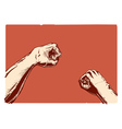 Gestures topic fist vector image