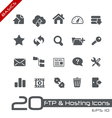 Hosting Icons Basics Series vector image