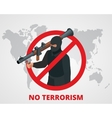 No terrorism Stop terror sign anti terrorism vector image
