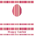 Postcard with Easter egg on colorful EPS 8 vector image vector image