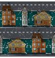 German buildings under snow vector image