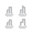 Minimalist Real estate logo design vector image