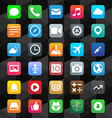 Flat App Icons vector image vector image
