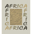 Africa background with text and texture elephant vector image