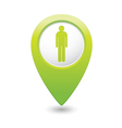 man GREEN map pointer vector image vector image