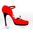 shoe shopping vector image