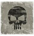 Grunge vintage background with skull vector image vector image
