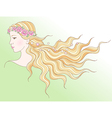 beauty girl spring vector image vector image