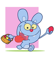 Happy Blue Bunny Rabbit vector image vector image