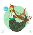 cartoon flat cute Mermaid princess vector image