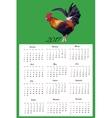 Calendar Hand Drawn cock bird vector image