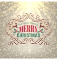 Christmas Shine Golden Greeting Card vector image
