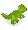 Dinosaur Tyrannosaurus isometric Prehistoric vector image