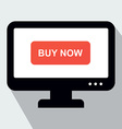 Monitor with Button Buy Now Concept of Online Shop vector image