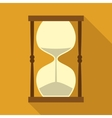 Vintage Hourglass with Sand in Flat Style vector image
