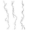 Wall Cracks Set on White Background vector image
