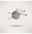 Woolen thread and needles flat design vector image