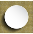 white circle button on shiny gold sequins vector image