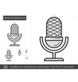 Record microphone line icon vector image