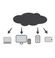 cloud technology icon web cloud technology vector image