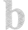 Freehand Typography Letter b vector image
