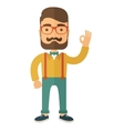 Young handsome hipster vector image