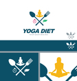 Yoga Diet Wellness Health Concept Design Element vector image vector image