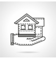 Rental house line icon vector image