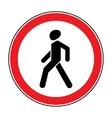 No Walking sign vector image