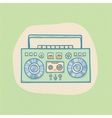 Boombox with cassette vector image