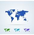 Set from Colorful World Map Icons vector image
