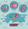 candy flat concept icons vector image