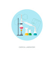 Chemical concept Organic chemistry Synthesis of vector image