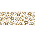 christmas gold stars and beads in rectangle on vector image