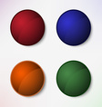 Color set of round blank buttons vector image