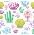Corals seamless pattern Life marine colorful vector image