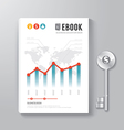 Cover Book Digital Design Template business vector image