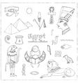 Egypt symbols set Sketches vector image