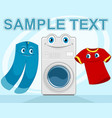 good laundry advertising vector image