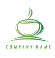 green cup logo vector image