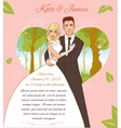 Young couple on the summer background eps10 vector image
