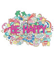 abstract background with text be happy texture vector image